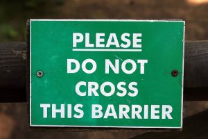 Please do not cross this barrier