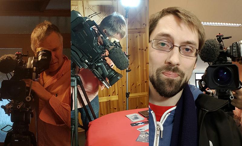 Der saarländische Rundfunk dreht bei Benjamin Spang für einen Fernsehbericht über ihn
