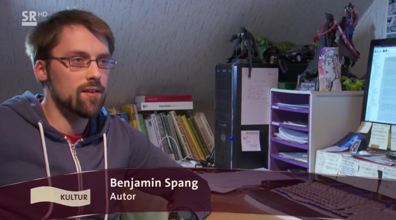 """Benjamin Spang im Interview für die Sendung """"Wir im Saarland: Kultur"""" vom Saarländischen Rundfunk"""