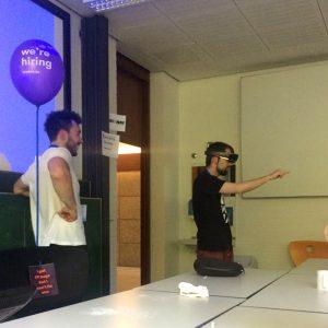 Auf dem Saarcamp 2017 durfte ich die Hololens von Microsoft testen